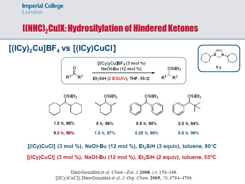 [(NHC)2Cu]X: Hydrosilylation of Hindered Ketones